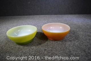 2 Collectible Fire-King Bowls