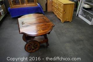 Tea Cart w/Folding Sides