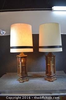 Pair of Working Vintage Lamps