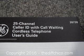 25-Channel GE Phone/Clock/Radio