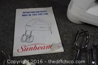 Working Sunbeam Mixer