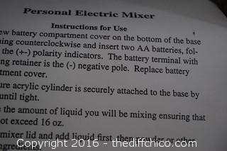 The Personal Power Mixer-NIB