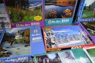 Lot of NIB Puzzles w/Puzzle Saver