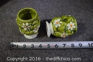 Vintage Pitcher & 4 Glasses