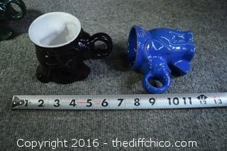 11 Vintage Elephant Frankoma Cups