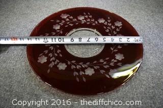 Red Glass Platter