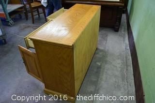 Oak Sideboard w/Top for Flat Screen TV