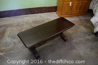 Vintage Walnut Bench