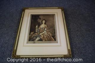 Framed Vintage Print