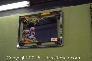 Vintage 1940's Art Deco Turner Flamingo Mirror
