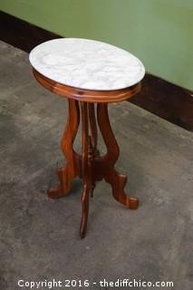 Vintage Marble Top Occasional Table