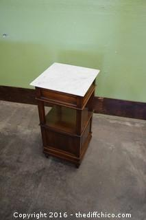 Vintage 1800's French Marble Top Night Stand