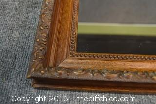 Framed Oak Mirror