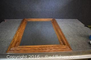 Framed Oak Mirror