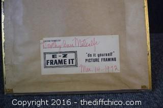 Custom Framed Needlepoint