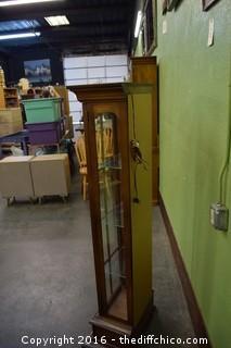 Display w/Glass Shelves & Bottom Drawer