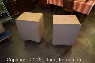 Pair of Mid Century Night Stands w/Drawer by Modern by Morris