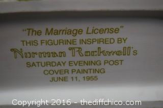 Norman Rockwell - The Marriage License - 991/5000