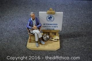 1981 Norman Rockwell Authorize Collectors Center Figure