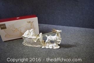 Mikasa Santa & Sleigh w/box