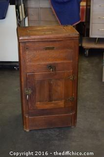 Vintage Oak Ice Box