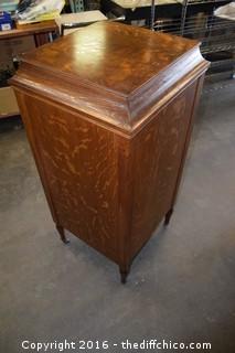 Edison Disc Photograph in a Vintage QS Oak Cabinet