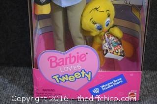 NIB Barbie Loves Tweety