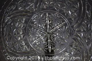 Vintage Glass Serving Platter