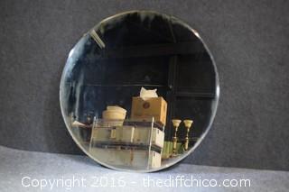 Vintage Round Beveled Mirror