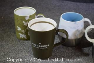 8 Starbucks Mugs