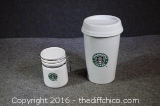 2 Starbucks Canisters
