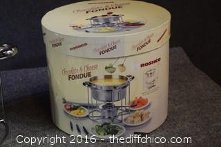 Roshco Stainless Steel Fondue Set w/Box