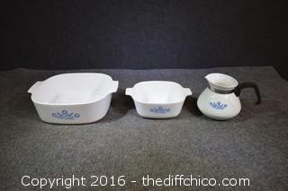 Cornflower Corning Ware - 3 Pieces