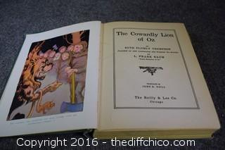 1923 The Cowardly Lion of OZ Book