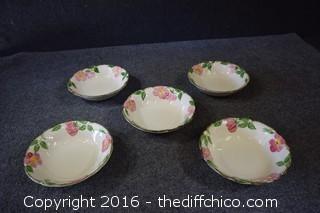 5 Franciscan Desert Rose - 8in Bowls
