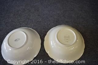 2 Franciscan Desert Rose - 9in Bowls
