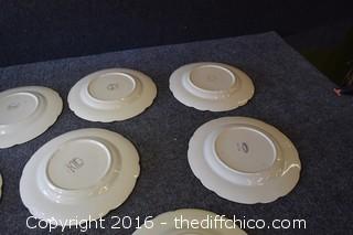 10 Franciscan Desert Rose - 9 1/2in Plates