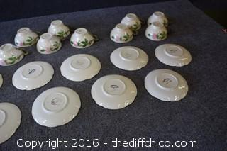 9 Franciscan Desert Rose - Cup & Saucer Sets