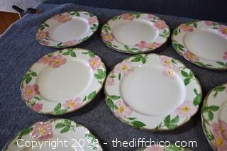 10 Franciscan Desert Rose - 10 1/2in Dinner Plates