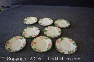 8 Franciscan Desert Rose - 6 1/4in Plates