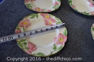 23 Pieces of Chipped Franciscan Desert Rose Dishes