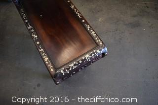 Vintage Rosewood Stepped Table w/Mother of Pearl Inlaid