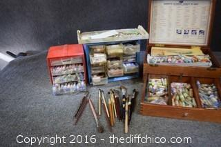 Mixed Lot of Artist Glazes & Brushes