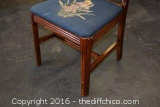 Vintage Needlepoint Chair