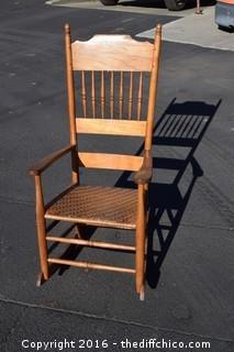 Early American New England Shaker Style Rocking Chair
