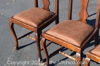 Set of 4 Vintage Chairs-Reupholster seats