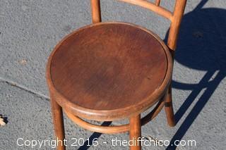 Vintage Fischel Bentwood Parlor Chair