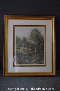 "Framed ""Gathering Berries"" Print"
