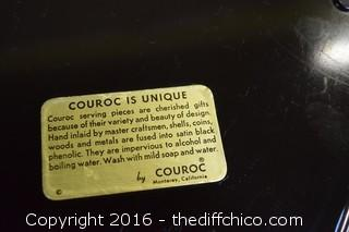 Collectible Couroc Celebrity Golf Tray
