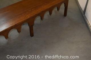 Vintage Oak Coffee Table
